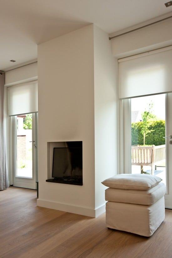 3. Rietgedekt huis bouwen, super moderne sfeerhaard betreft woonkamer in Soest