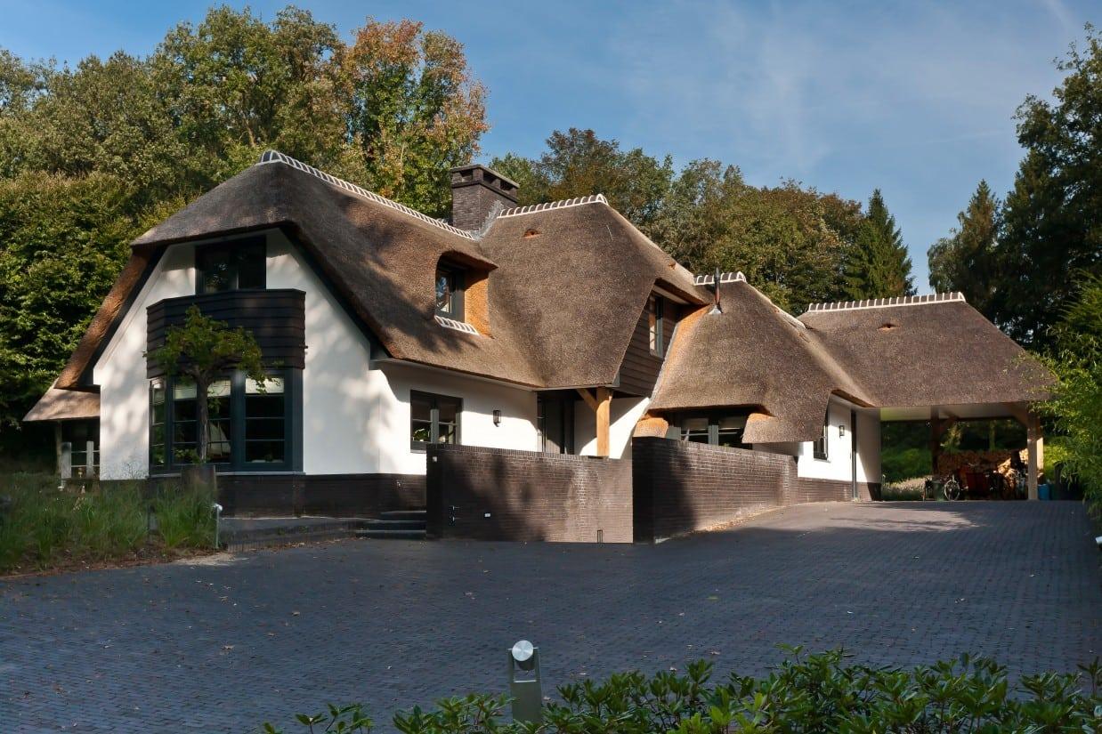 6. Rietgedekt huis bouwen, schitterende villa in Laren