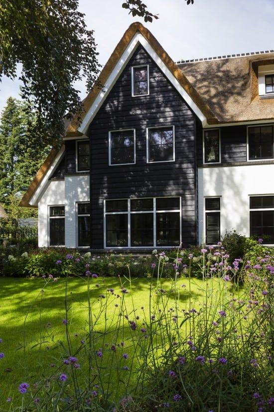 4. Rietgedekt huis bouwen detail uitbouw Zeist